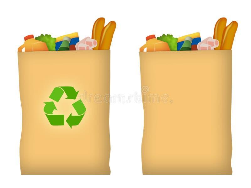 袋子副食品 库存例证