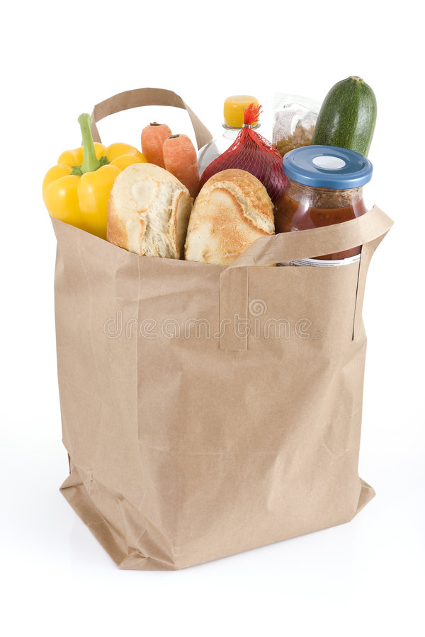 袋子副食品 免版税图库摄影