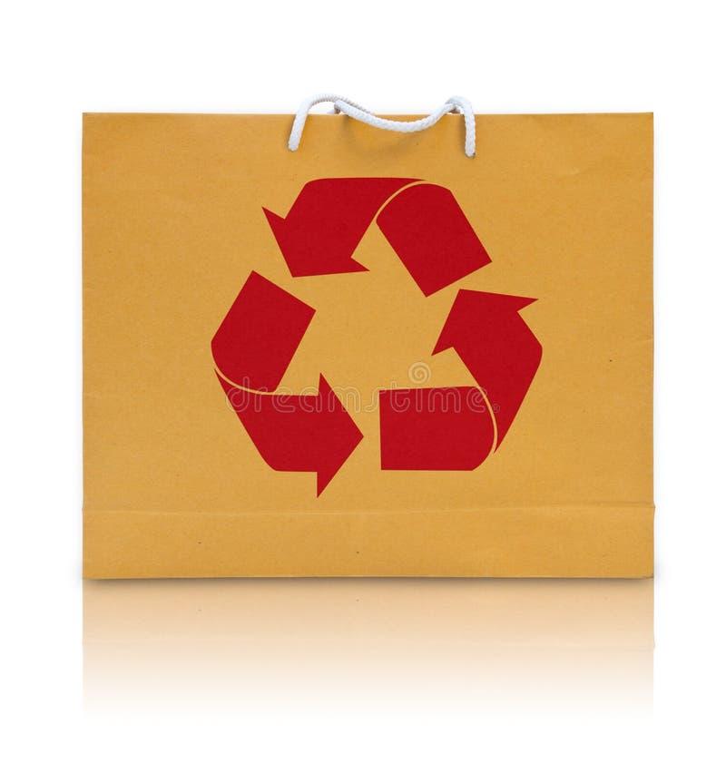 袋子包装纸回收符号 免版税库存图片
