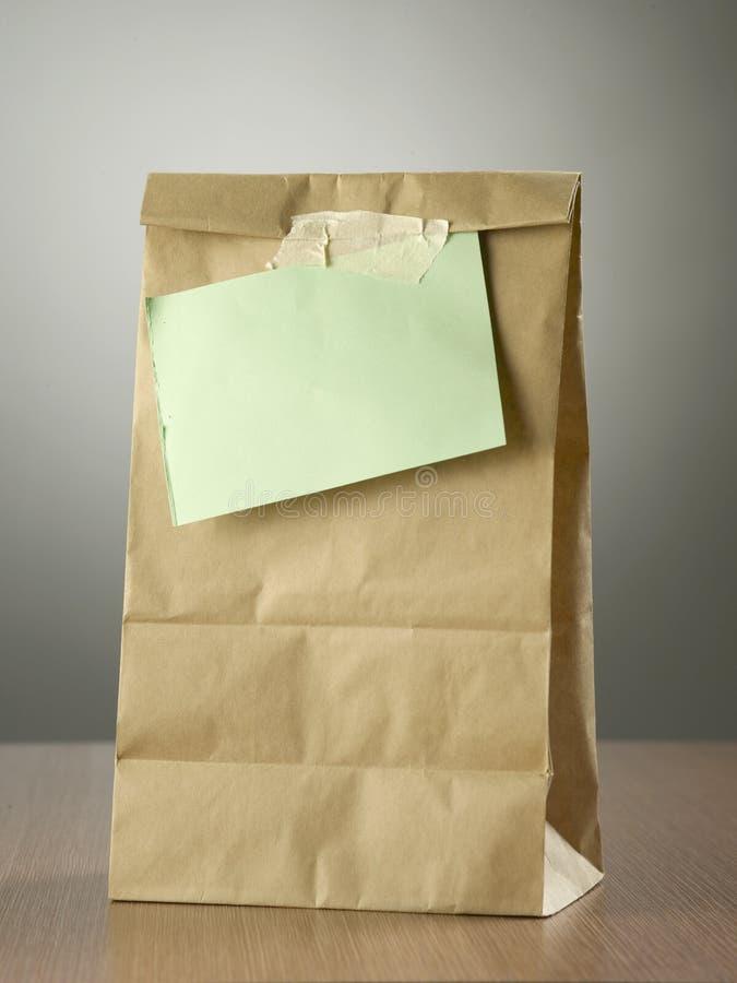 袋子午餐 库存照片