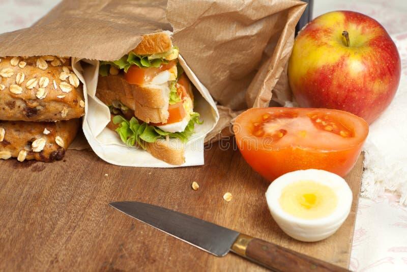 袋子午餐 免版税库存照片