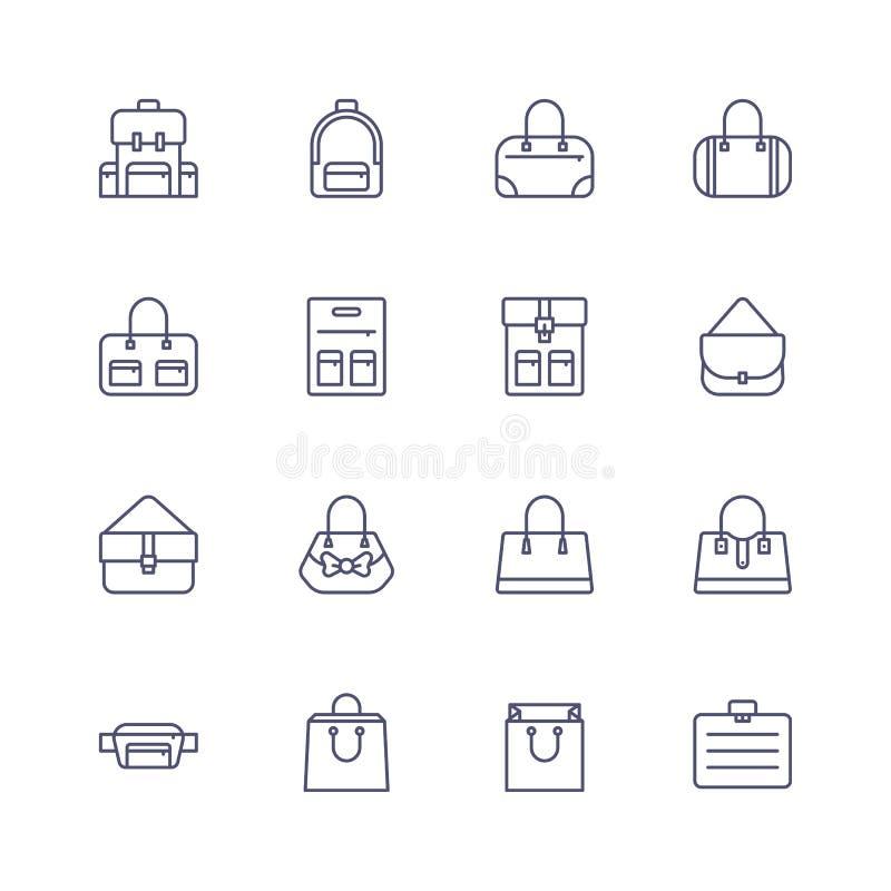 袋子和背包象 免版税图库摄影
