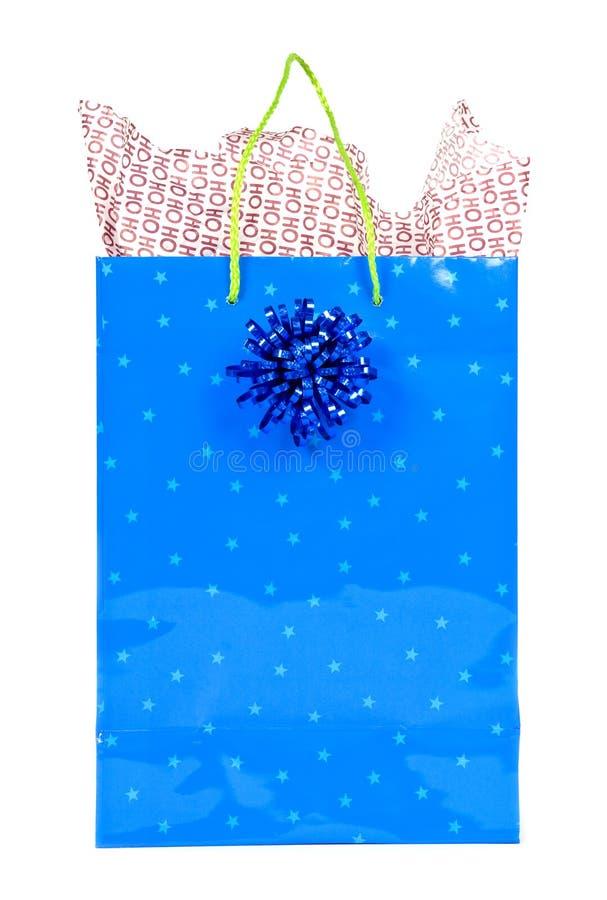 袋子圣诞节礼品查出的白色 库存图片
