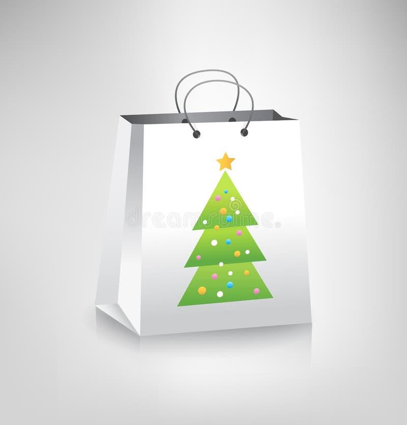 袋子圣诞节购物 向量例证