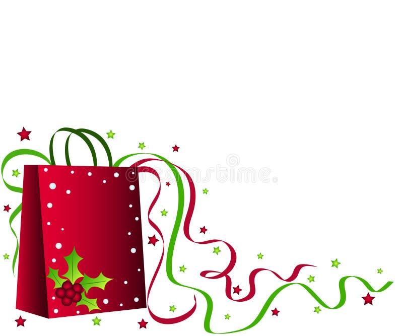 袋子圣诞节购物 皇族释放例证