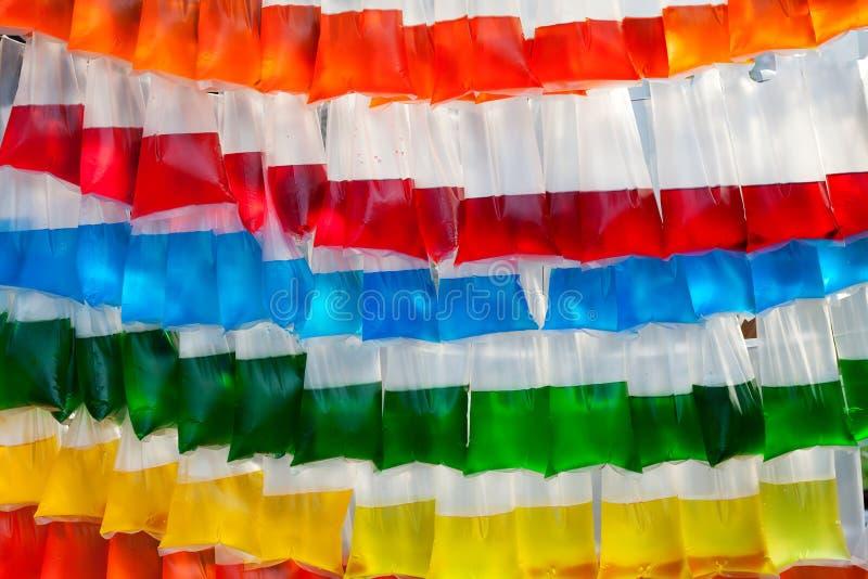 袋子塑料水 免版税图库摄影