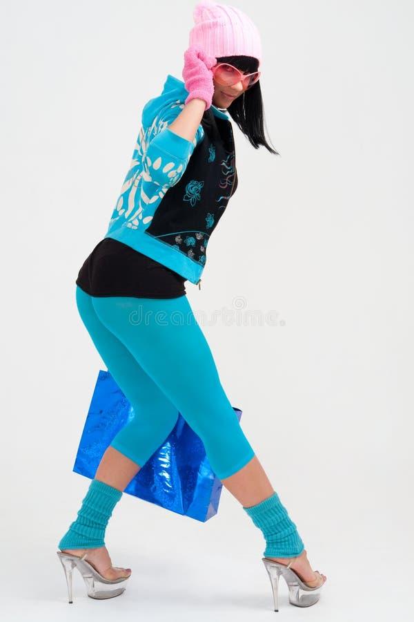 袋子性感的购物妇女年轻人 图库摄影
