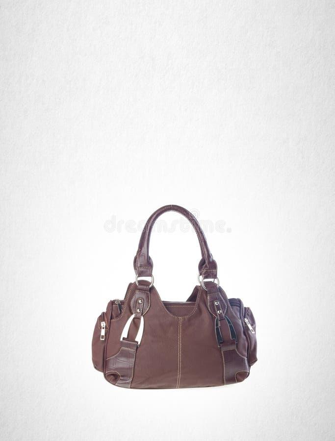 袋子或妇女袋子在背景 库存图片