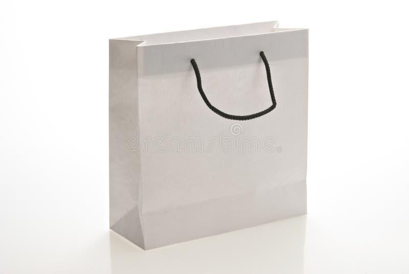 袋子把柄纸张白色 库存图片