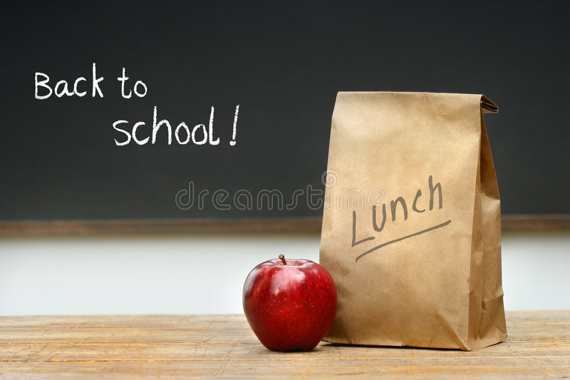 袋子服务台午餐纸张 库存照片