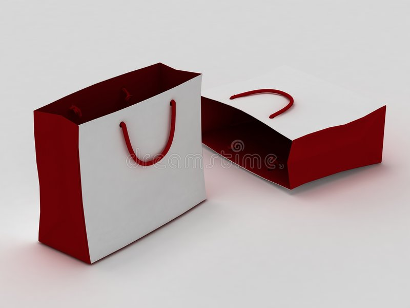 袋子查出的白色 库存例证