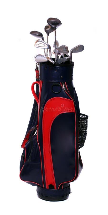 袋子棍打高尔夫球 免版税库存图片