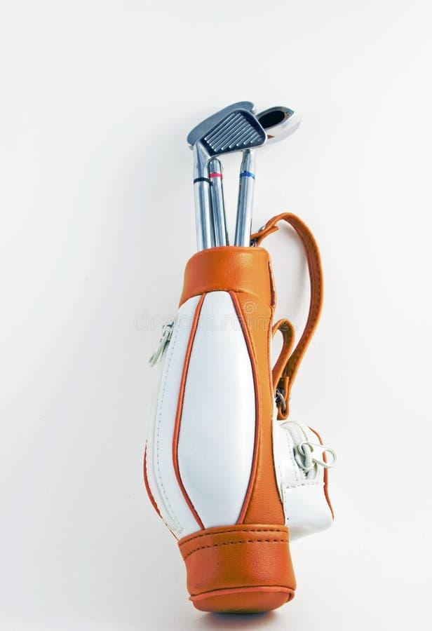 袋子棍打高尔夫球 库存图片