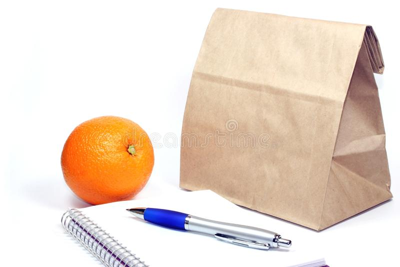 袋子棕色午餐会 图库摄影