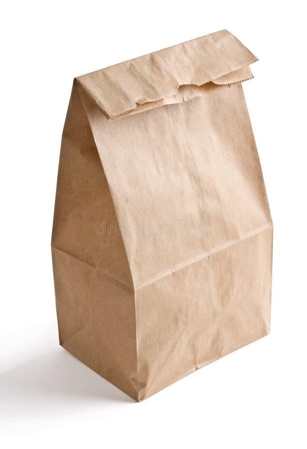 袋子棕色午餐纸张 免版税库存照片