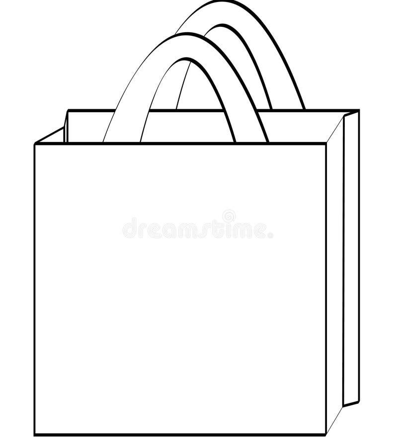 袋子概述购物 库存例证