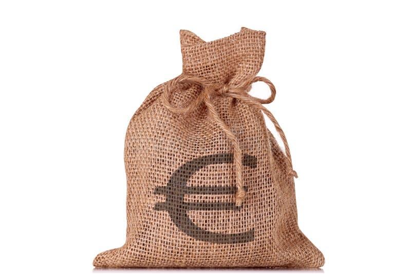 袋子欧元货币 免版税库存图片