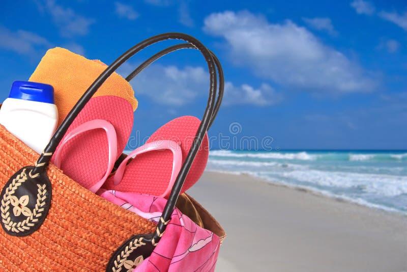 袋子海滩 库存图片