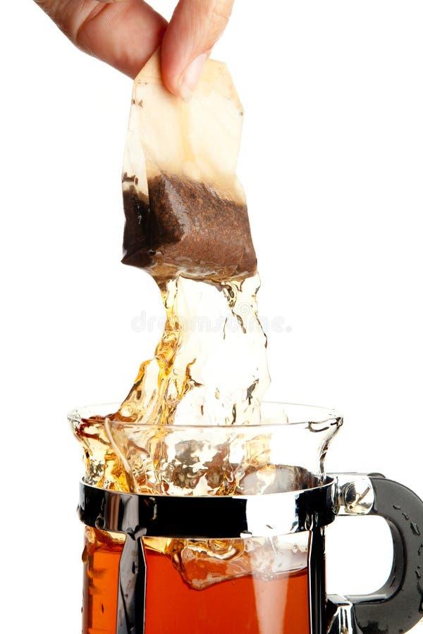 袋子热茶 免版税库存图片