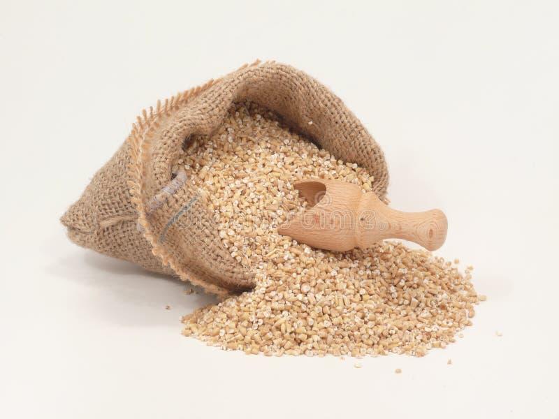 袋子燕麦 免版税库存图片