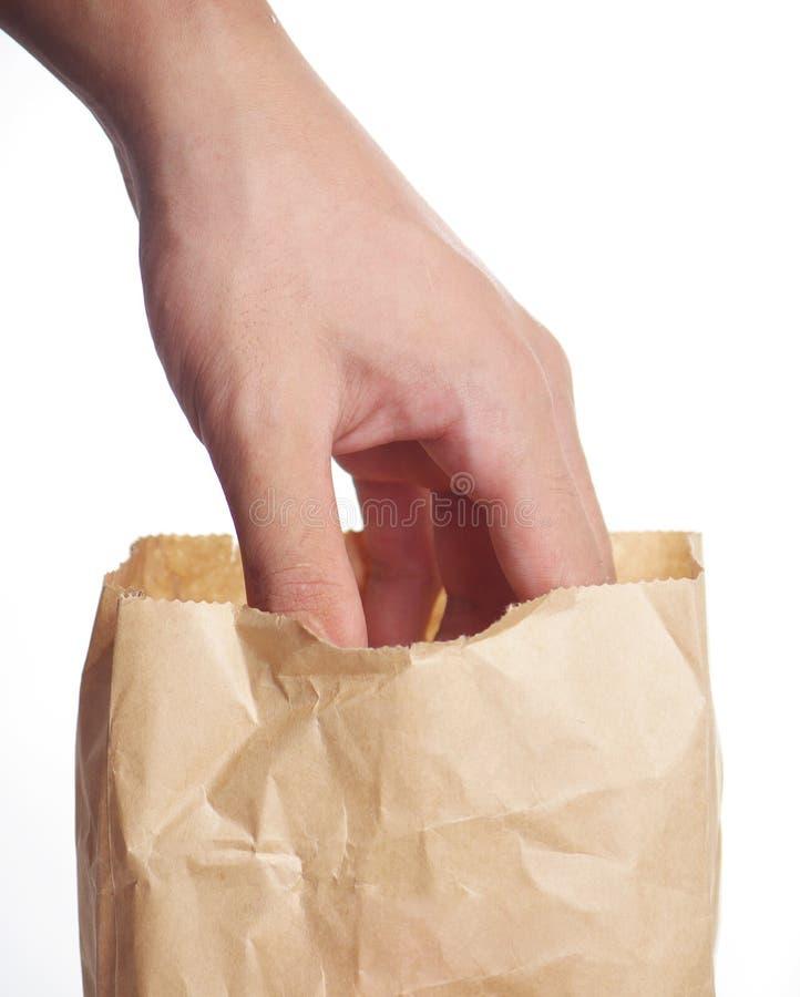 袋子现有量纸张 免版税库存图片