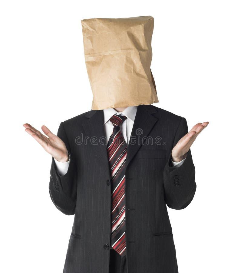 袋子生意人纸佩带 免版税库存照片