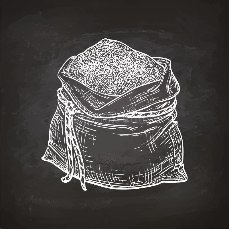 袋子白垩剪影面粉 皇族释放例证