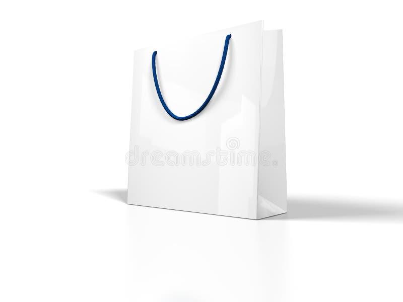 袋子白色 免版税图库摄影