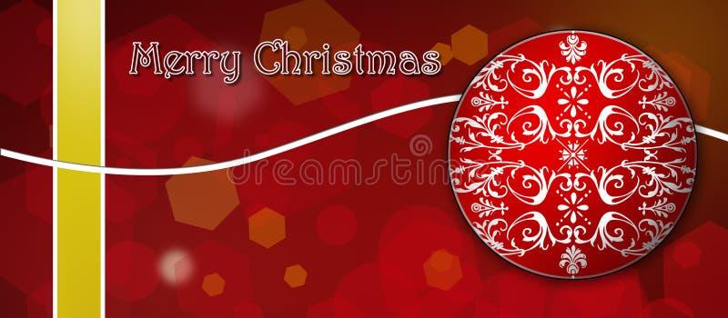 袋子看板卡圣诞节霜klaus ・圣诞老人天空 红色和黄色与白色装饰 库存图片