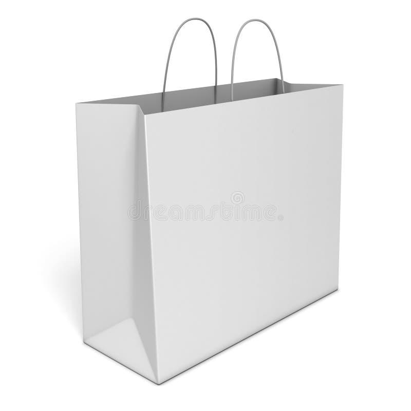 袋子空白查出的购物 库存例证
