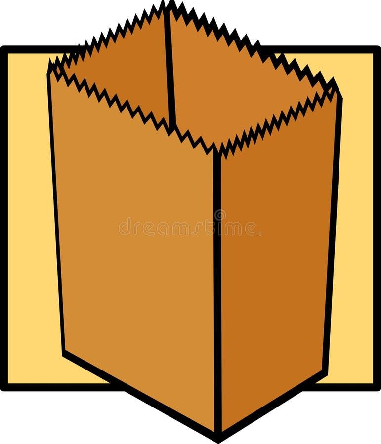 袋子空的副食品纸张 库存例证