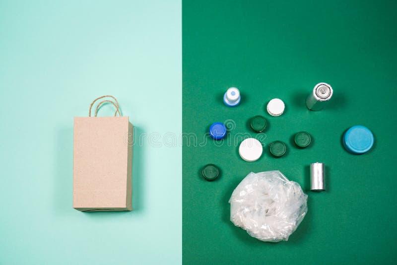 袋子纸塑料 图库摄影