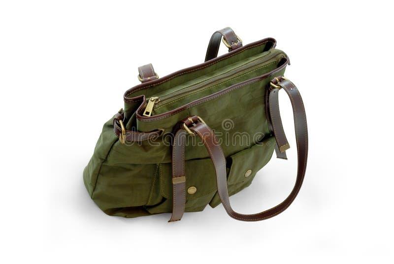 袋子绿色现有量钱包妇女 免版税库存图片