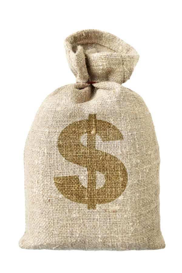 袋子美元货币符号 免版税库存图片
