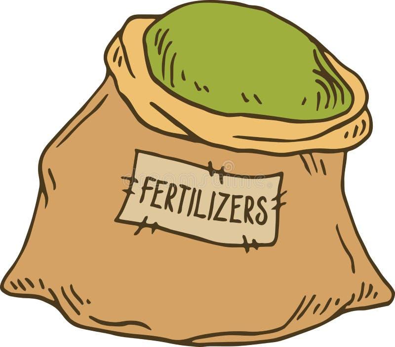袋子肥料 向量例证