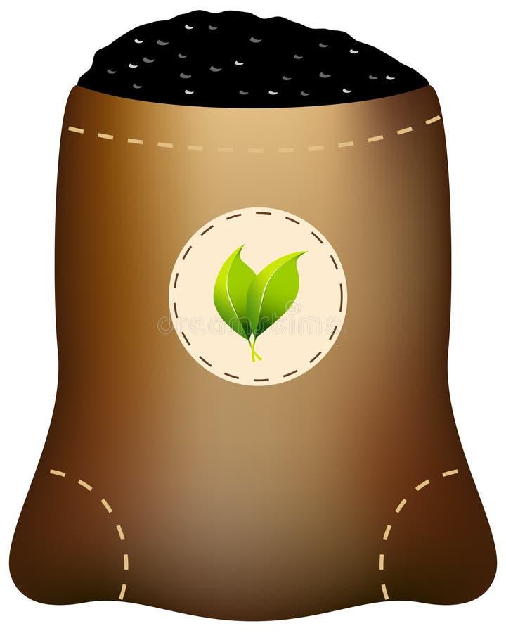 袋子肥料 皇族释放例证