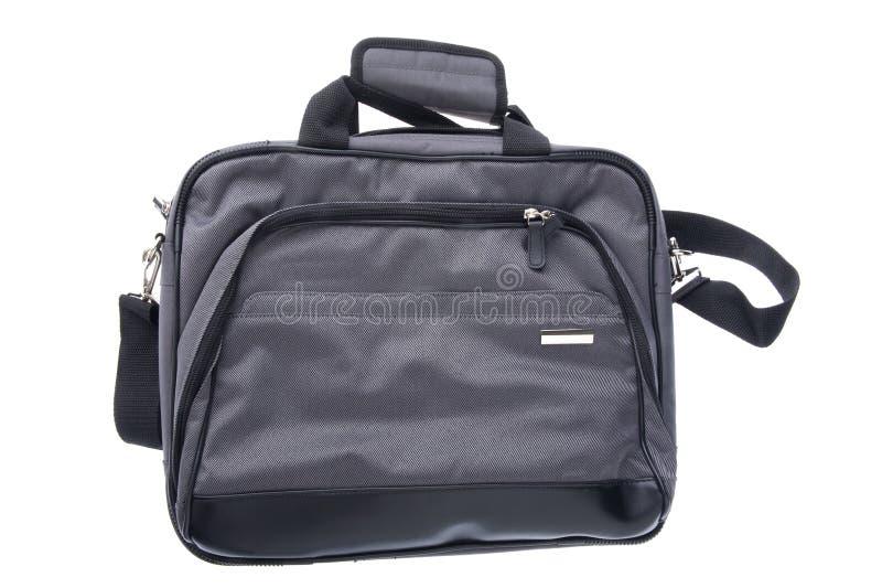 袋子膝上型计算机白色 免版税库存图片