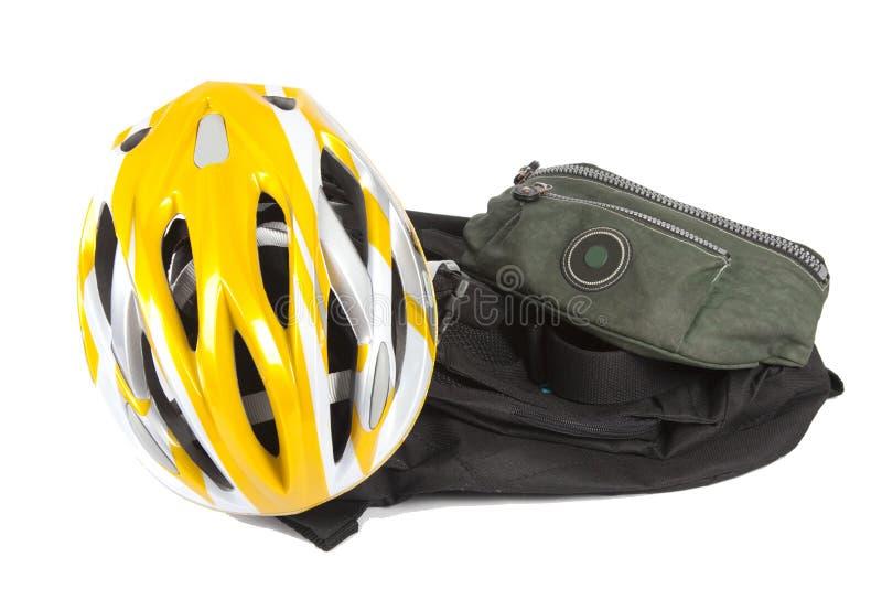 袋子自行车盔甲 库存图片