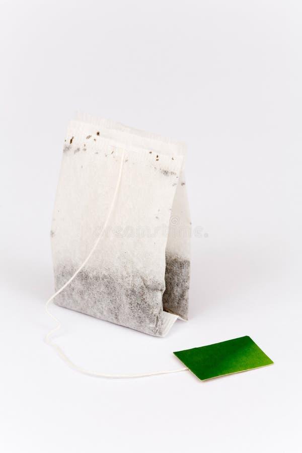 袋子茶白色 免版税库存图片