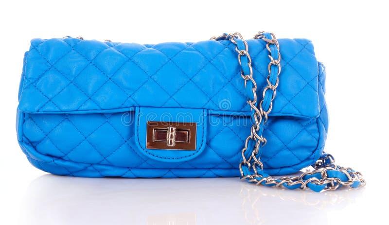 袋子蓝色妇女 免版税库存照片