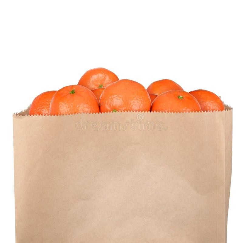 袋子蜜桔 免版税库存图片