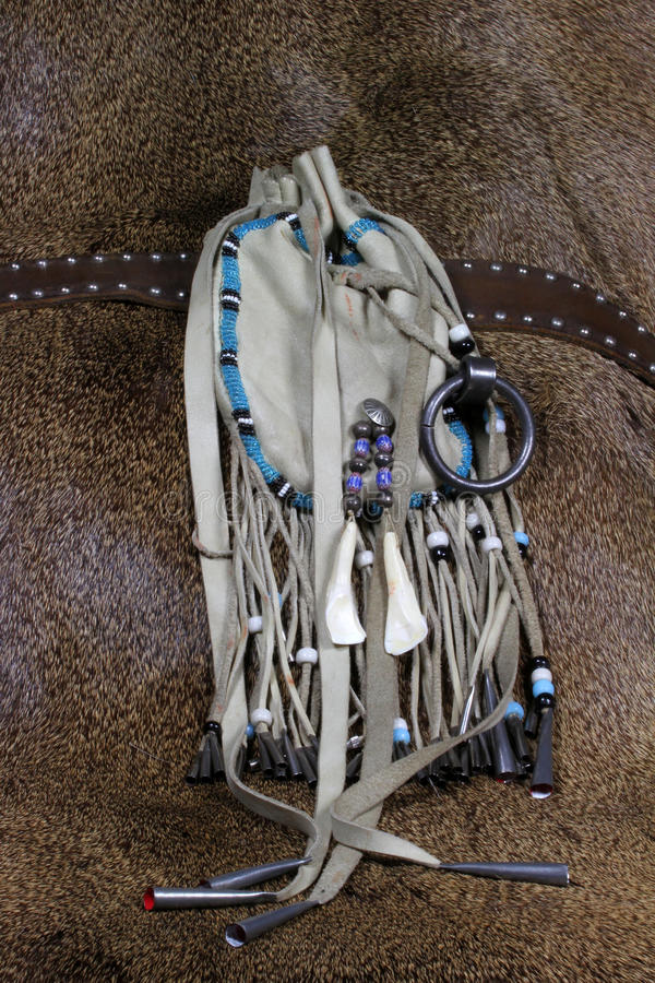 袋子被手工造的皮革 库存照片