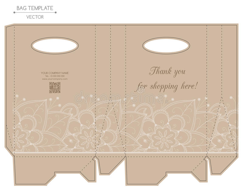 袋子设计,压凹凸印刷 皇族释放例证
