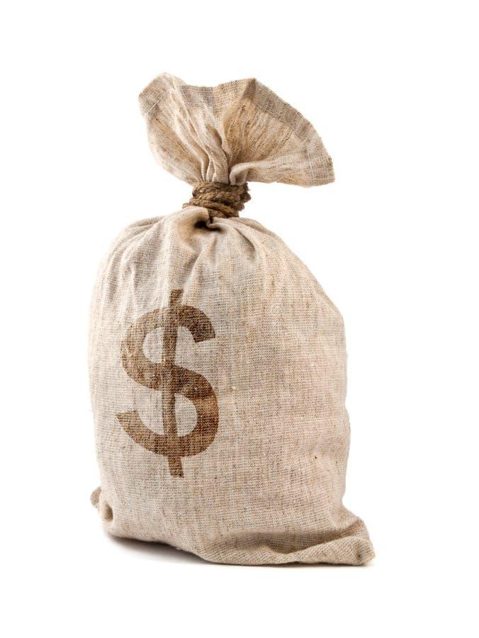 袋子货币 图库摄影