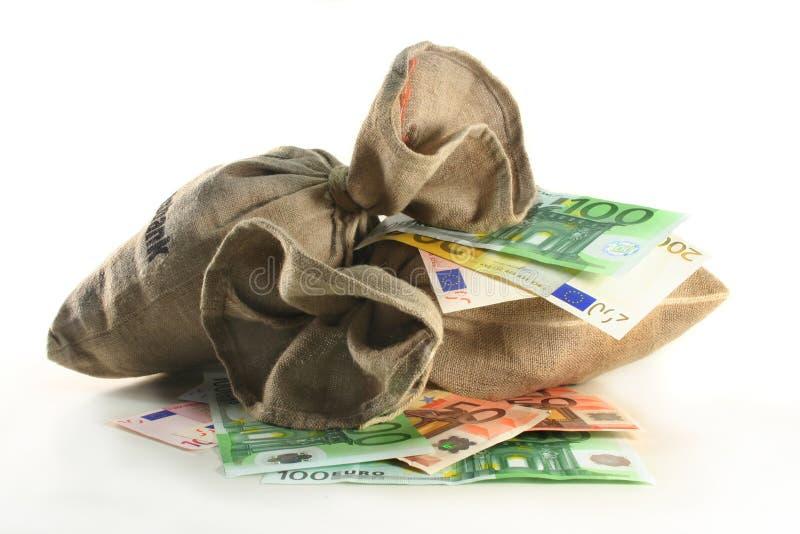 袋子货币 库存图片