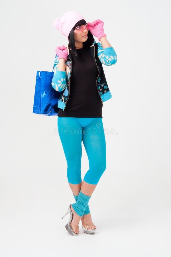 袋子购物妇女年轻人 库存照片