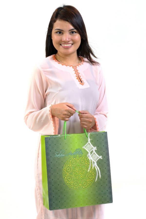 袋子购物妇女 免版税库存照片