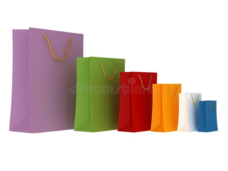袋子购物 免版税图库摄影