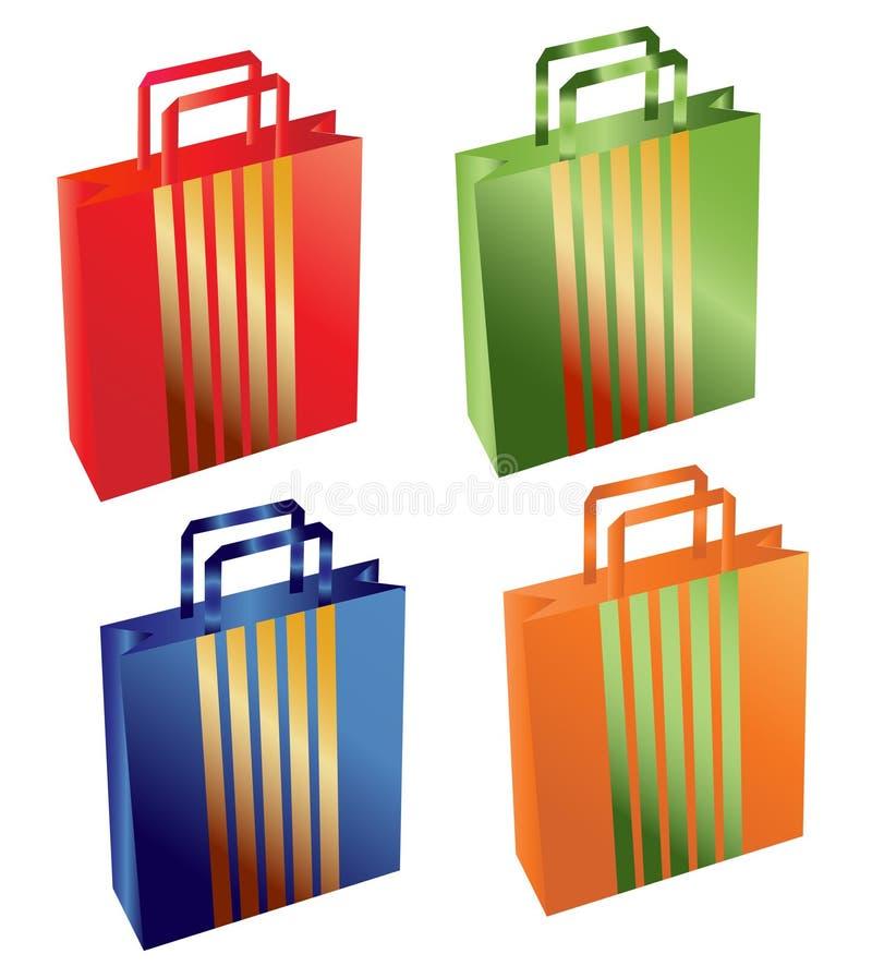 袋子集 向量例证