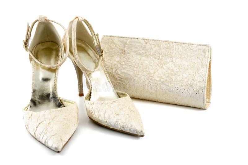 袋子鞋子 免版税库存照片